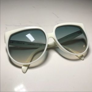 NWOT Celine White 66mm Round woman sunglasses